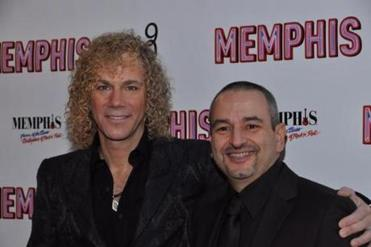 David Bryan (left) and his collaborator Joe DiPietro. Bryan was a teenager when he met Jon Bon Jovi and their band played vintage Memphis soul tunes.
